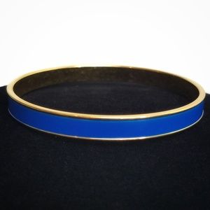 Vintage Monet Blue Enamel Bangle Bracelet